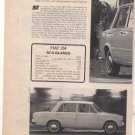 1967 1968 FIAT 124 VINTAGE ROAD TEST AD 4-PAGE