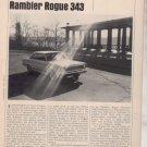 1967 1968 RAMBLER ROGUE 343 VINTAGE ROAD TEST AD 5-PG