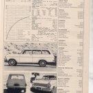 1964 1965 OPEL KADETT VINTAGE ROAD TEST AD 3-PAGE