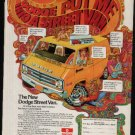 * VINTAGE 70'S DODGE STREET VAN PROMO AD