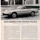 1971 1972 ALFA ROMEO 1750 SPIDER VELOCE ROAD TEST AD