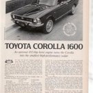 1971 1972 TOYOTA COROLLA 1600 ROAD TEST AD 4-PAGE