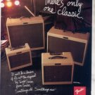 * 1993 FENDER AMPLIFIER AMP AD THERES ONLY 1 CLASSIC