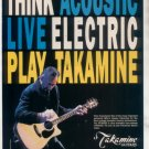 * 1993 PETE TOWNSHEND THE WHO TAKAMINE GUITAR AD