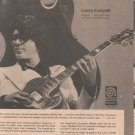 * 1974 LARRY CORYELL HAGSTROM GUITAR POSTER TYPE AD