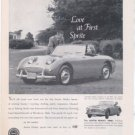 1960 AUSTIN HEALEY 3000 VINTAGE CAR AD