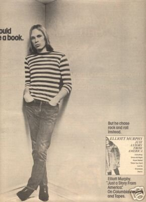 ELLIOTT MURPHY JUST A STORY FROM AMERICA PROMO AD 1977
