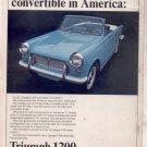 1965 1966 TRIUMPH 1200 VINTAGE CAR AD