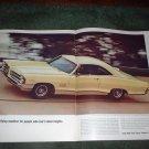 1965 1966 PONTIAC  2 + 2 VINTAGE CAR AD 2-PAGE