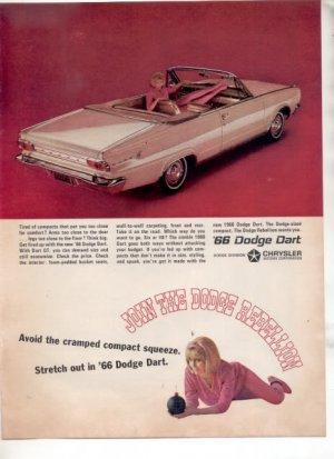 1966 DODGE DART VINTAGE CAR AD