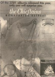 1976 THE CHIEFTAINS BONAPARTES RETREAT POSTER TYPE AD