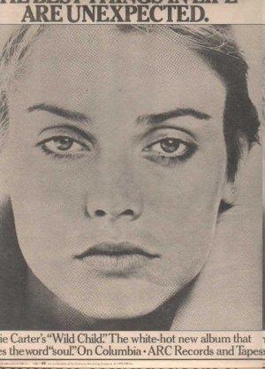 * 1978 VALERIE CARTER WILD CHILD POSTER TYPE AD