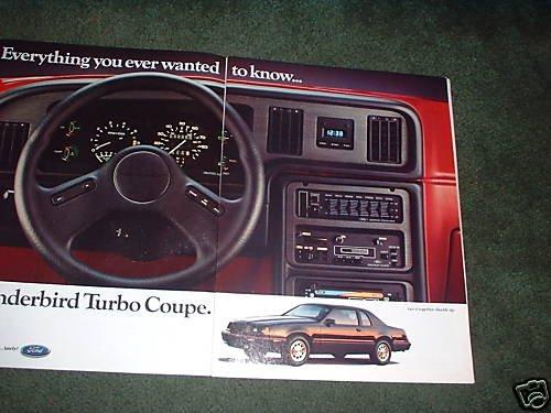 1984 1985 Ford Thunderbird Turbo Coupe Vintage Car Ad