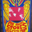 * 1967 THE ROLLING STONES POSTER VINTAGE ORIGINAL RARE 2 SIDED KONST