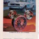1969 FORD MUSTANG KELSEY RIMS CAR AD KELSEY HAYES