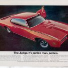 1969 1970 PONTIAC GTO THE JUDGE VINTAGE CAR AD