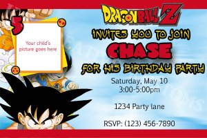 Dragon Ball Z Custom Birthday Party Invitation HQ DIGITAL FILE