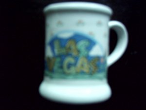 Las Vegas Miniature Promotional Advertising Coffee Dematasse Cup