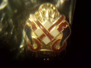 I Support Military Logo Sticback Pin German Dental Enameled New