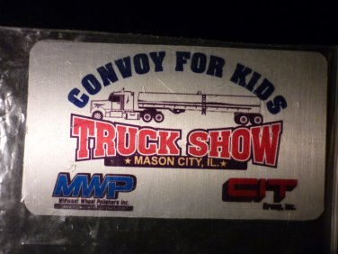 """Truck Show Metal Card """"Convoy For Kids""""  Mason City, IL"""