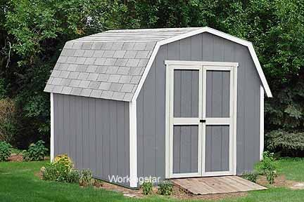 12' x 16' Barn Roof Style Plans, How to Build a Storage Shed #W21216