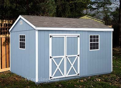 10' x16' Gable Garden Storage Shed Project Plans #E1016