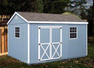 10' x16' Gable Garden Storage Shed Project Plans #E1016