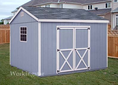 10 X 12 Gable Design Storage Shed Project Plans E1012