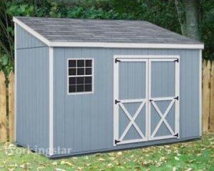 4' x 10' Lean To Roof  Storage Shed Blueprints /  Project Plans #E0410