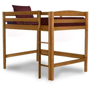 Full Loft Bed Woodworking Plans  Design #1204