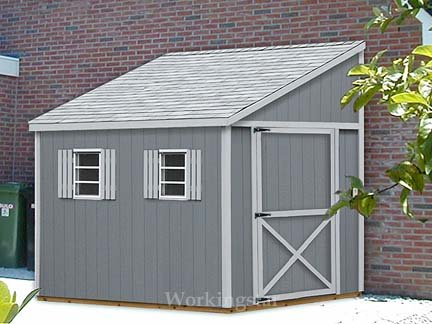 6 X 14 Lean To Roof Design Shed Blueprints Project