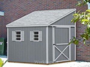6' x 14' Lean To Roof Design Shed  Blueprints / Project Plans #E0614