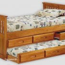 Twin Captain's Bed with Trundle Woodworking Plans, Design #1CPT1