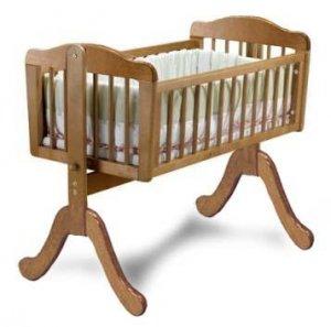 Nursery Baby Swing Cradle Bed Woodworking Plans, Design #5CRD2