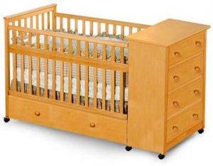 Convertible Captain's Crib, Changing Drasser Plans, Design # CPCRB
