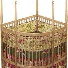 Nursery Baby Custom Corner Crib Woodworking Plans, Design #CRCRB