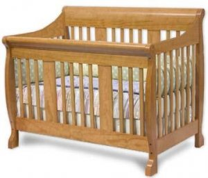 Convertible Sleigh Style Crib Woodworking Plans, Design #CNCR1