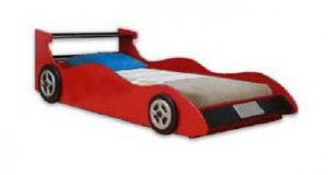 Twin Red Racing Car Bed Woodworking Plans, Design #1RCNG