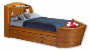 Children's Twin Boat Bed with Trundle Bed Project Plans, Design #1BT01