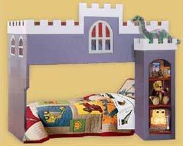 Children's Castle Loft/bunk Bed Woodworking Plans, Design  #1CSTL