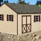12' x 16' Gable Roof Style Storage Shed Project Plans, Design #E1216