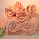 D. Porthault Bath Towel Set - Peach Bath & Hand Towels, Wash Cloths, Bath Mat