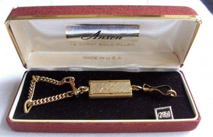 Vintage Anson Key Chain & Original Box NOS 12KT GF