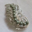 Vintage 70s Sarah Coventry Feather Fantasy Pin Brooch