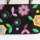 Y & S Original Floral Beaded Purse Bag Flower Seed Beads