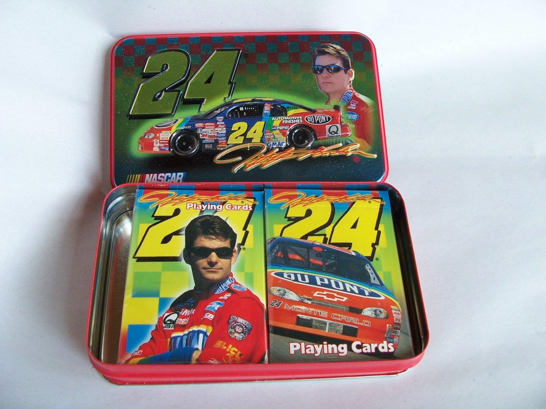 NASCAR Jeff Gordon Two Sealed Decks Playing Cards Collectible Numbered Tin