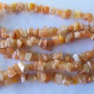 Vintage Butterscotch Agate Stone Chip Bead Necklace
