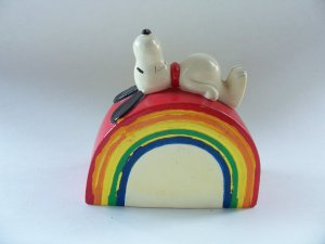 Vintage Peanuts Snoopy Rainbow Bank 50s 60s