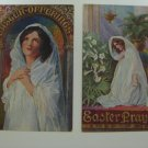 2 Antique Easter Postcards Vintage Unused Early 1900's