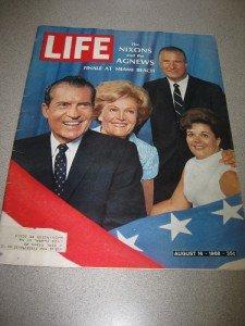 Life Magazine August 16 1968 Nixons & Agnews